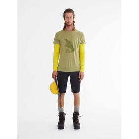 Klättermusen Eir Forest Bluzka z krótkim rękawem Mężczyźni oliwkowy
